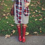 レディースファッションとも相性抜群!雨の日はハンターブーツのサムネイル画像