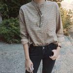 ベージュのシャツで柔らかな品性溢れる大人の女性へ大変身♡のサムネイル画像
