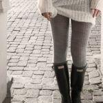 秋冬はグレータイツでコーディネートに抜け感を作りましょう♡のサムネイル画像