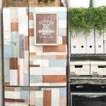 無機質なデザインの冷蔵庫をおしゃれリメイクする方法ご紹介します。のサムネイル画像