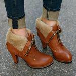 レディースに人気の茶色ブーツコーデでおしゃれで可愛い足元にのサムネイル画像