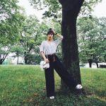 黒のワイドパンツのコーデ方法♡大人レディな仕上がりがおしゃれのサムネイル画像
