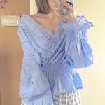 ファッションもSNS映え!旬な《コンシャストップス》で写真盛り♡のサムネイル画像