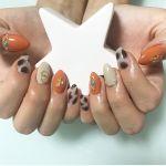 秋のジューシーカラー♡《オレンジネイル》で気分もハッピーに!のサムネイル画像