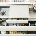 主婦憧れの広々システムキッチン☆使い勝手よく収納しましょう!のサムネイル画像