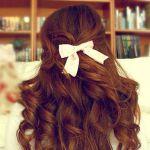 真似したい☆ハーフアップ×リボンのヘアアレンジが可愛すぎる!のサムネイル画像