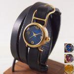 ブレスレット感覚で♪二重レザーベルトの腕時計で手首を飾ろう♪のサムネイル画像