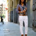 かわいいギンガムチェックシャツ!悩みの着回しコーデをご紹介!のサムネイル画像