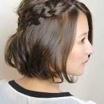 簡単に出来る、大人可愛いボブレングスの編み込みスタイル♪のサムネイル画像