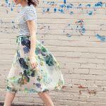 春を先取り!可愛いだけじゃない!花柄スカートの着こなし術☆のサムネイル画像
