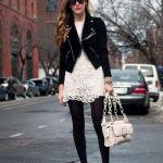 まだまだ足元は冷えるから。タイツを履いてもキマる爽やか春コーデ♡のサムネイル画像