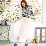 ロングのチュールスカートが可愛い♪ふわふわの女の子コーデ♪のサムネイル画像