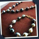 【涙の象徴と言われている真珠】黒真珠ネックレスをクローズアップ!のサムネイル画像