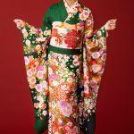 振袖の人気色の緑のパターン、着物に合うコーデを紹介します。のサムネイル画像