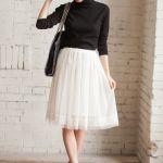 白フレアスカートのコーデが大人可愛い!コーデを参考にしよう!のサムネイル画像