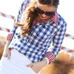 ギンガムチェックシャツは女の子の味方!コーデを華やかにしたいのサムネイル画像