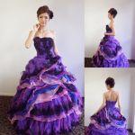 高貴でエレガントな紫ドレス!カクテルドレス、ロング、ミニドレス‼のサムネイル画像