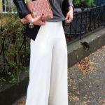 【白のワイドパンツ】白いカラーのワイドパンツがトレンド!のサムネイル画像