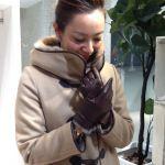 レディースレザー手袋で手元まで大人のコーディネート完成!のサムネイル画像