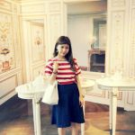 フレアのデニムスカートが可愛い♡フェミニンにも可愛くもなれる♡のサムネイル画像