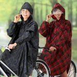 傘さし運転は✖。雨の日はレディースの自転車レインコートを着よう♪のサムネイル画像