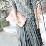 【グレーのプリーツスカート】合わせやすいグレーのプリーツ!のサムネイル画像