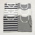 デイリーからお出かけまで使える無印良品のボーダーTシャツコーデ!のサムネイル画像