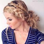 前髪の編み込み 短い髪でもOK アレンジ次第で雰囲気が変わる(^^♪のサムネイル画像