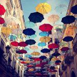 梅雨到来。雨の日は、おしゃれな傘を持って外へ出かけよう。のサムネイル画像