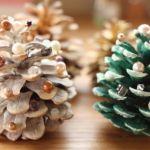 簡単でかわいいハンドメイド、松ぼっくりでクリスマスツリーのサムネイル画像