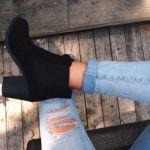 黒のブーティーで秋から履きやすさとおしゃれをどっちも攻めようのサムネイル画像