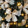 とってもガーリー!可愛いクリスマスツリーのリボンオーナメントのサムネイル画像