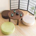座布団の丸型なら和室や洋室に関係なく使えてとってもオシャレ!のサムネイル画像
