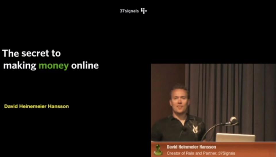 Ruby on Rails 作者David Heinemeier Hanssonが語るオンラインでお金を生み出すためのたった1つの方法