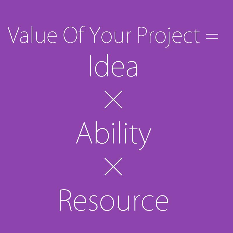 スタートアップはアイデアと実行力とリソースの積を最大化するゲーム