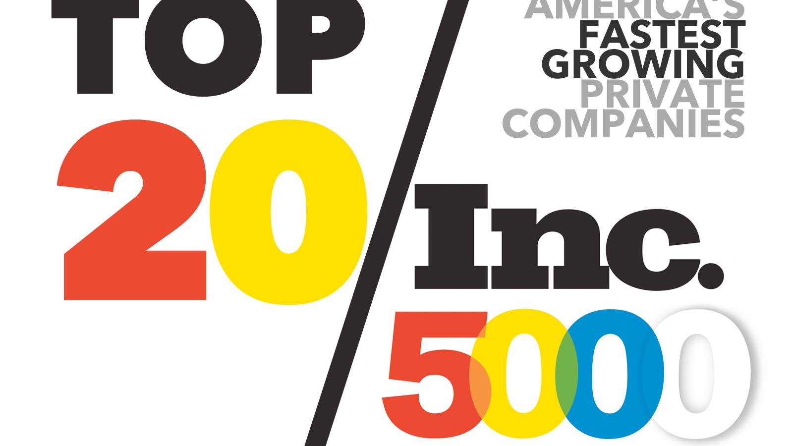 Inc.が発表した2014年最も速く成長している非公開ベンチャー5000社中TOP20社!