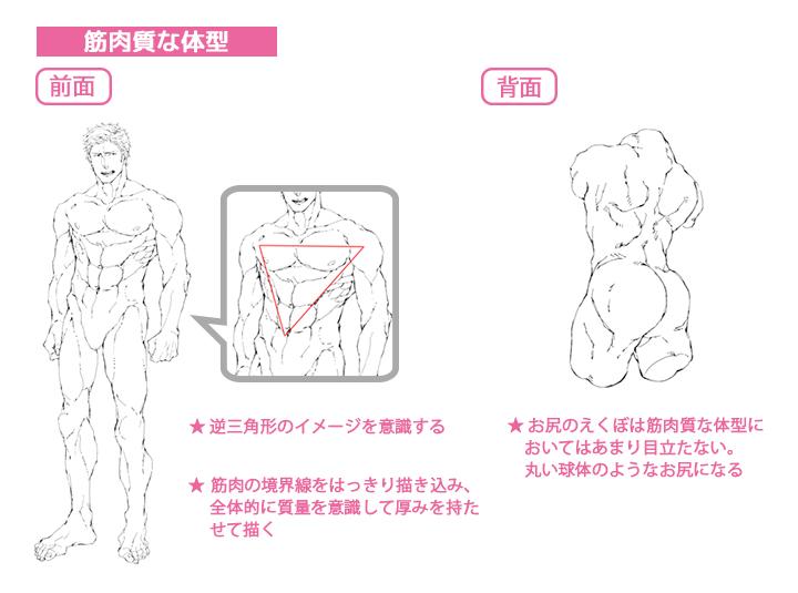 125_男性キャラクターの体の描き分け講座 (4)