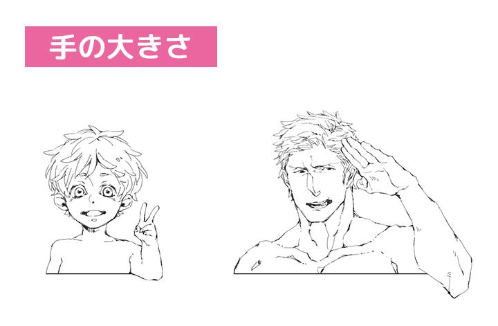 125_男性キャラクターの体の描き分け講座 (10)