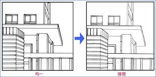 なお背景を描くには定規を多用することになりますが、あえて定規を使わないで、フリーハンドで描くことで、線に暖か味を出すこともできます。