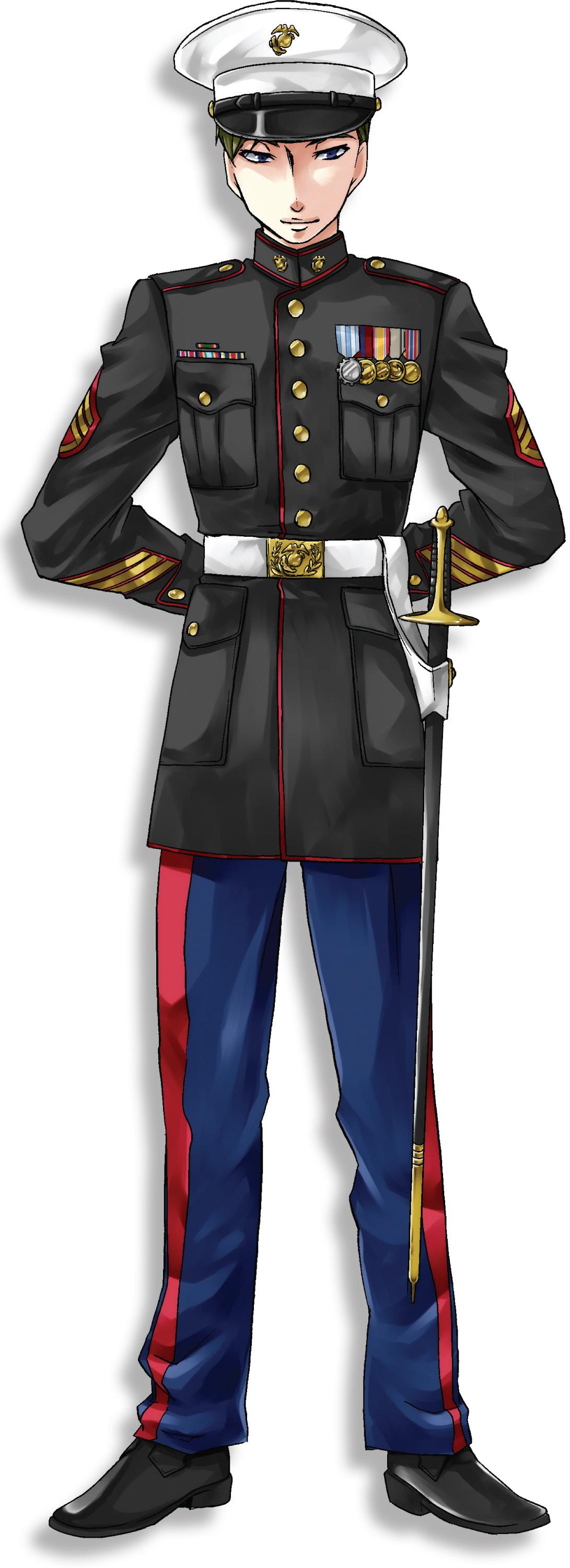 軍服 かっこいい イラスト