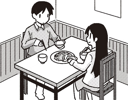 定食屋でのワンシーン