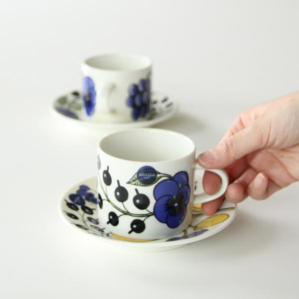 ARABIA/Paratiisi コーヒーカップ&ソーサー ペアセット