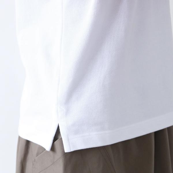 ポロシャツ ラウンドカラー Blanc