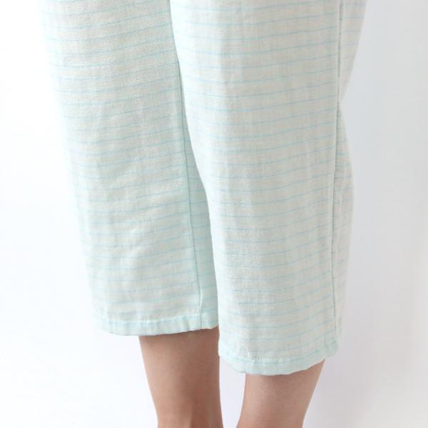 【別注】ダブルガーゼボートネックパジャマ ブルー