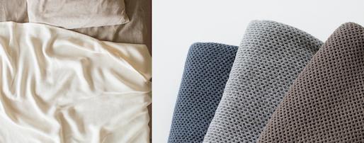 寝苦しい夜に、kontexの夏タオルケット。低速織りによる柔らかさと吸水性の魅力を感じて<br />
