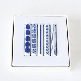 印判箸置 セット(豆絞り/米印/一本/ありがとう/当的)