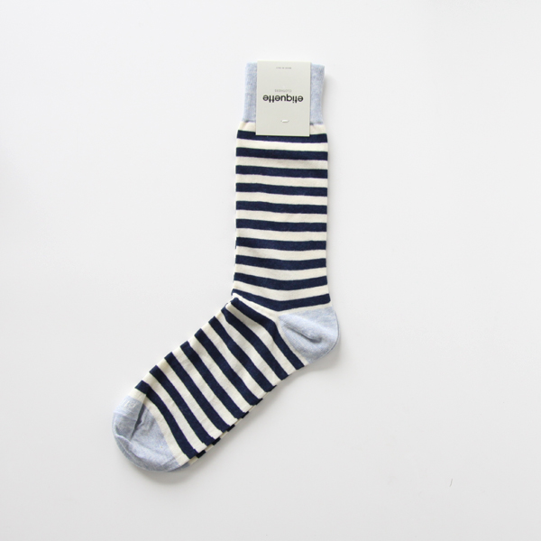 MENS ABBEY STRIPES Ecru / Vintage Blue heather