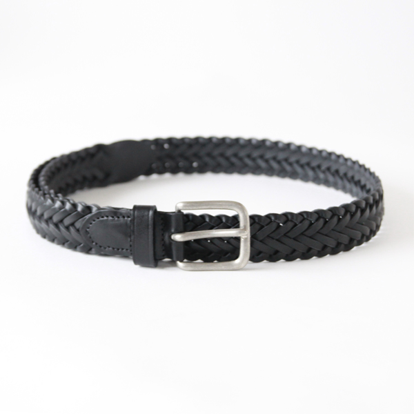 BRAIDED BELT BLACK  32inc