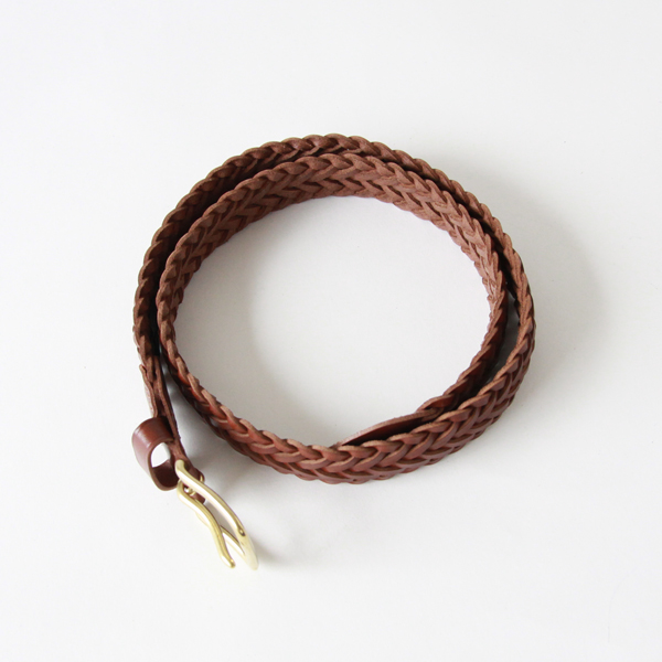 BRAIDED BELT  PAPAYA  32inc