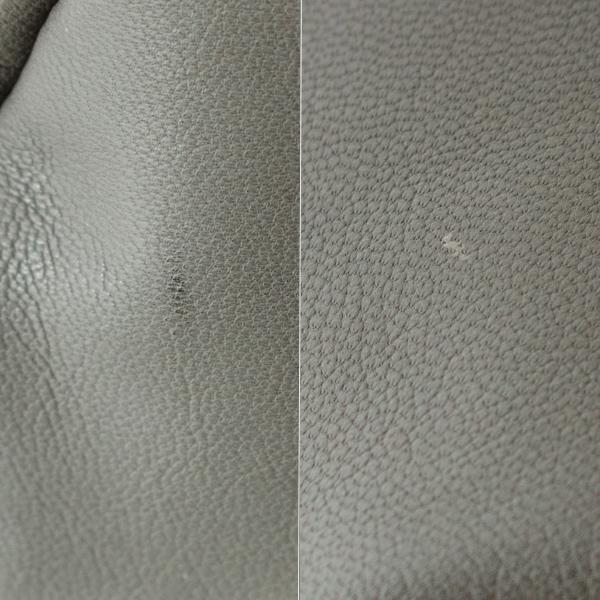 天然皮革を無駄にすることなく使用しているため、キズやオイルのムラ等が見られる場合があります